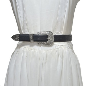 Women Vintage Western Leather Jeans Belts Ladies Designer Dress Belt