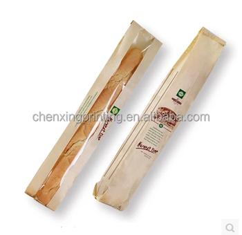 good selling Baguette Kraft Paper Bakery Bread Bag for Homemade Bread long bread