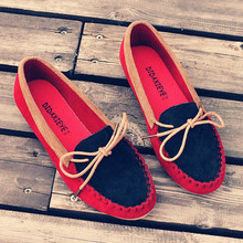 2014 Moccasins female nubuck leather flat heel single shoes fashion flat driving shoes