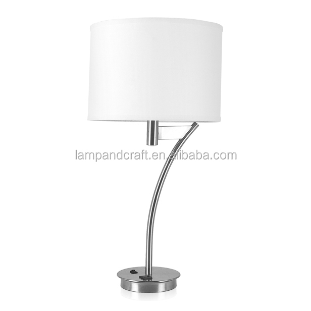 Buy cheap china table lamp shade price products find china table usb outlets cheap price modern brushed nickel metallic base table lamp with shade cover and 2 aloadofball Image collections