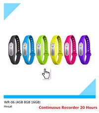 Factory Offer Directly Spy Wearable Bracelet Micro Hidden Voice Recorder Support MP3 Play 4 Colors To Choose