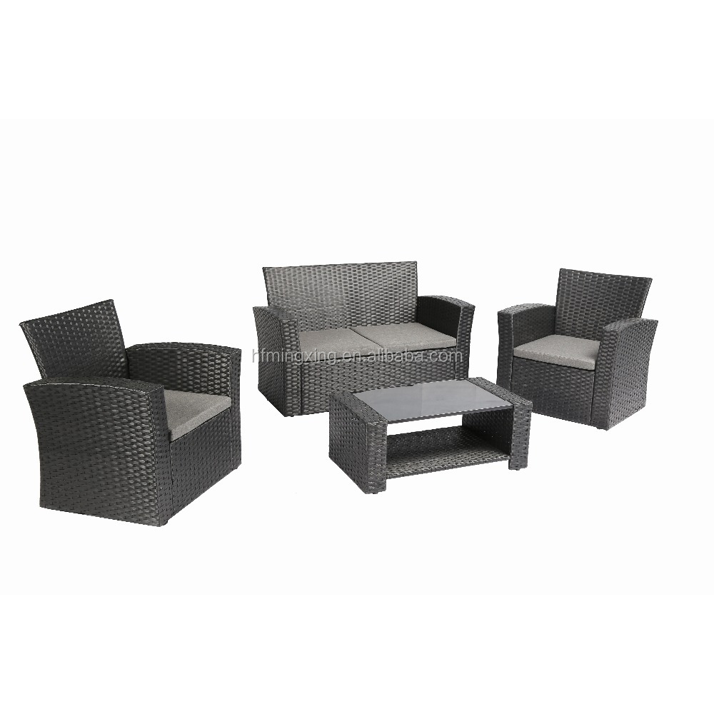 Outdoor Furniture Conversational Set Modern Wicker Bistro Furniture
