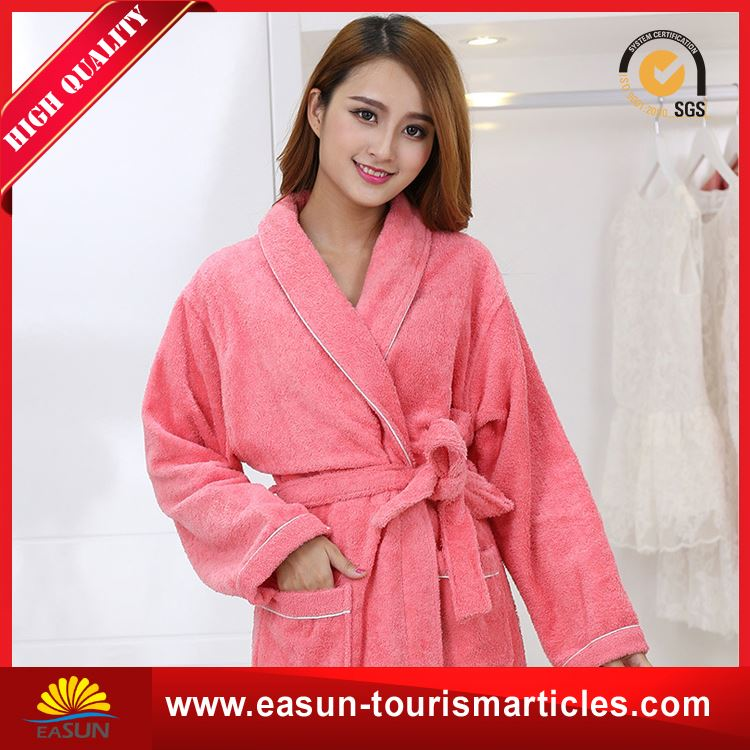 Low price printed flannel fleece bathrobe bath robe cotton bath robes