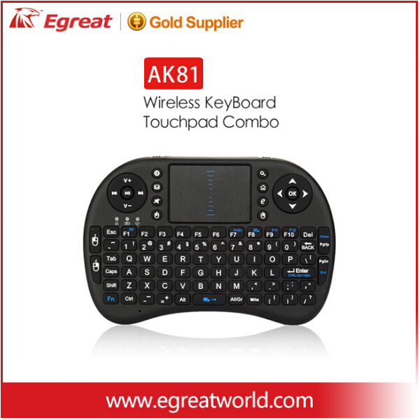 Egreat AK81 OEM high quality Air Mouse 2.4 g wireless infrared keyboard