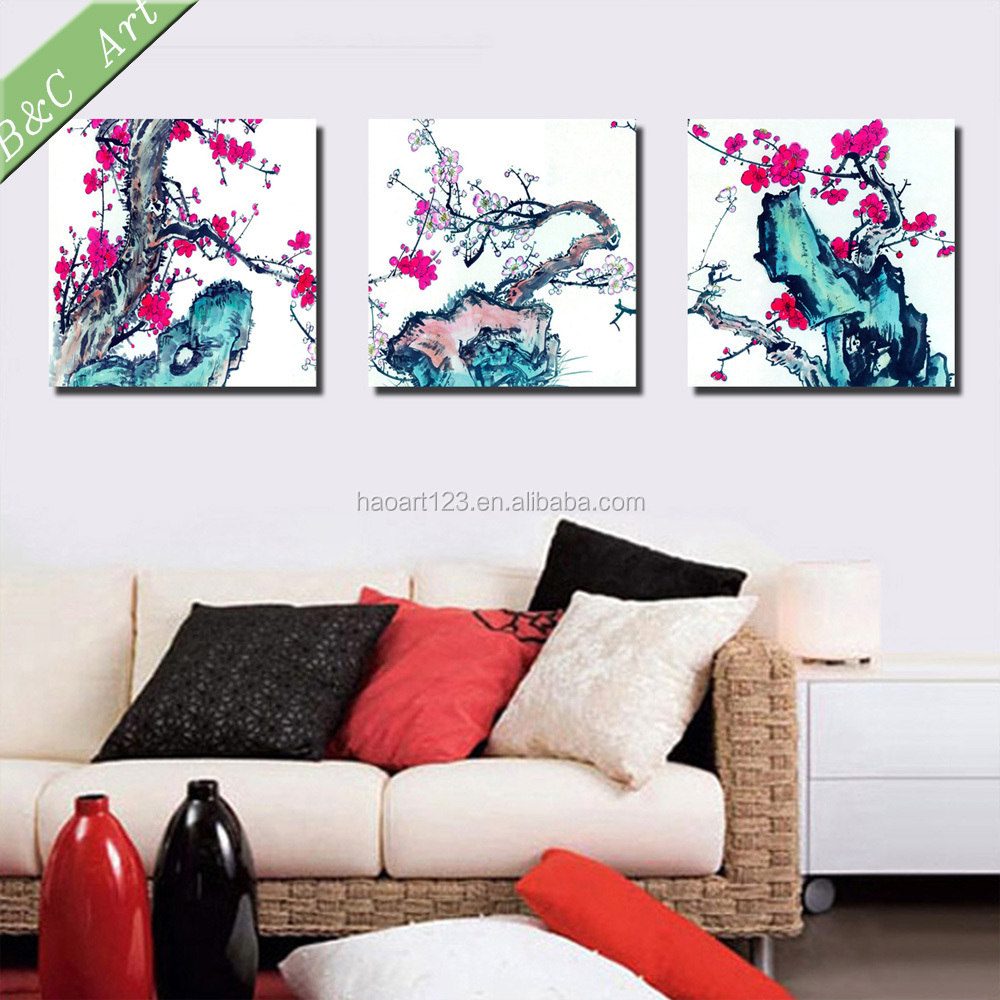Panel Print Plum Blossom Painting with Traditional Chinese Style