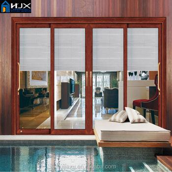 Glass Sliding Door Horizontal Sliding Glass Doors With Built In