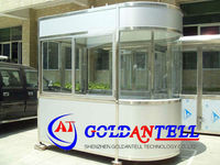 Parking lot system with stainless steel prefab box portable kiosk booth sentry guard house