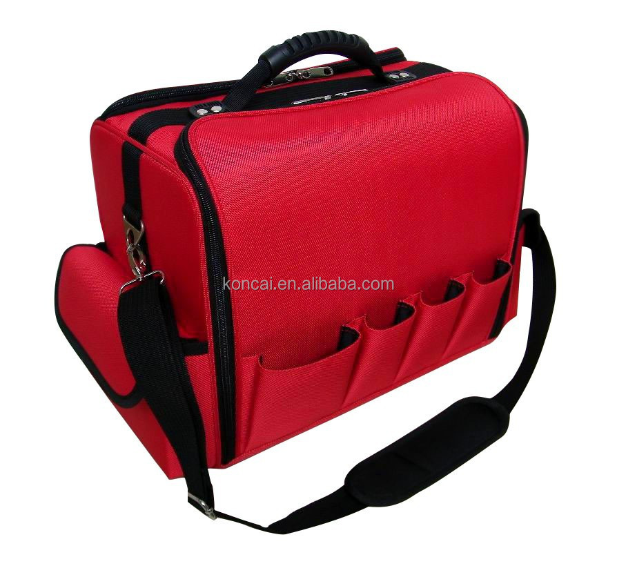 Durable Beauty Case Nylon Makeup Carrying Bag Toiletry Organizer Box Cosmetic Storage 4 Trays KC-N29