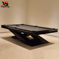 High grade quality special leg design solid wood and slate billiard pool table