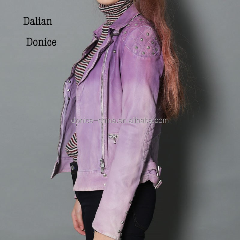 Girl's fashion jacket gradually changing color jacket
