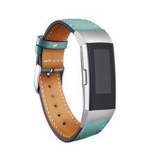 Роскошный цветной кожаный сменный Браслет для Fitbit Charge 3 браслета ремни для Fitbit Charge 3 умные наручные часы ремешок(Китай)