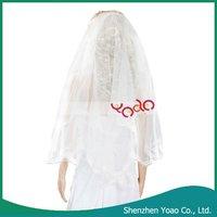 2012 Cheap Ivory Flower Lace Wedding Bridal Veil