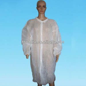 Nonwoven dustproof polypropylene disposable chemistry lab coat for food industry