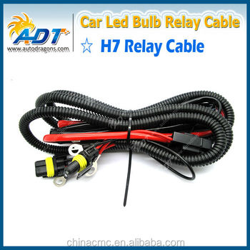 H3 H4 H7 H11 9005 9006 Hid Conversion Kit Relay Wire Harness Adapter