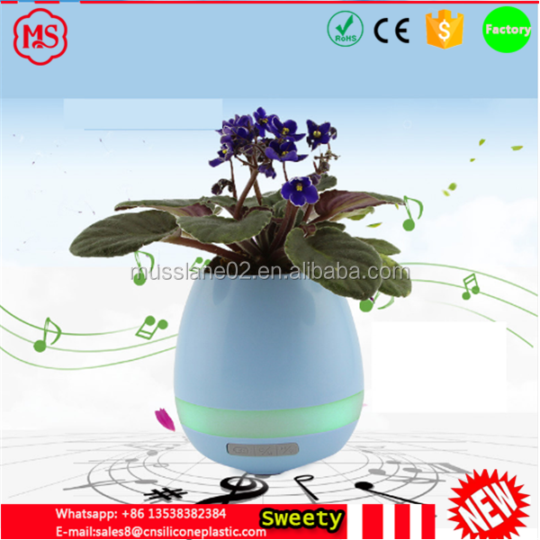 Chinese Creative Desk Flowerpot Bluetooth Music Flowerpot Wireless Speaker Plant Gifts