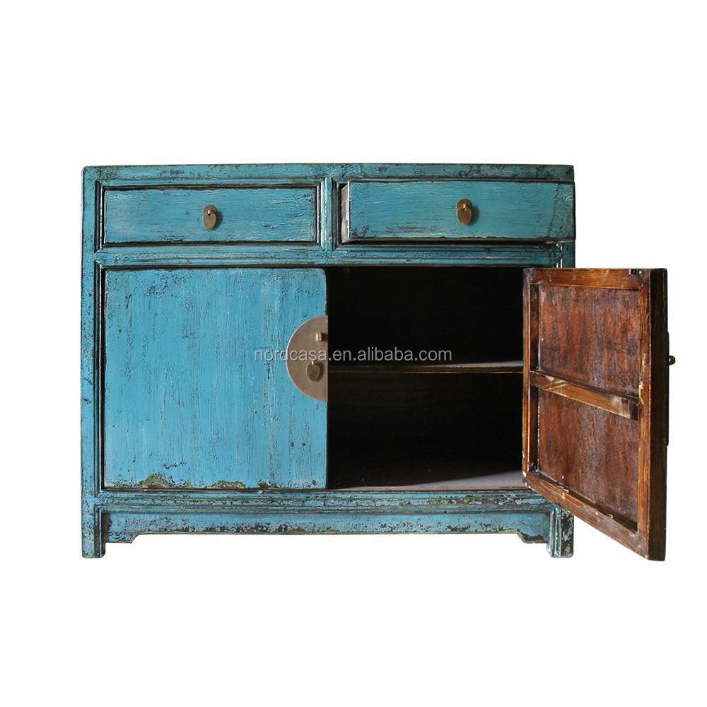 Blue living room cabinet of antique furniture in wholesale vintage furniture buy wholesale - Vintage furniture living ...