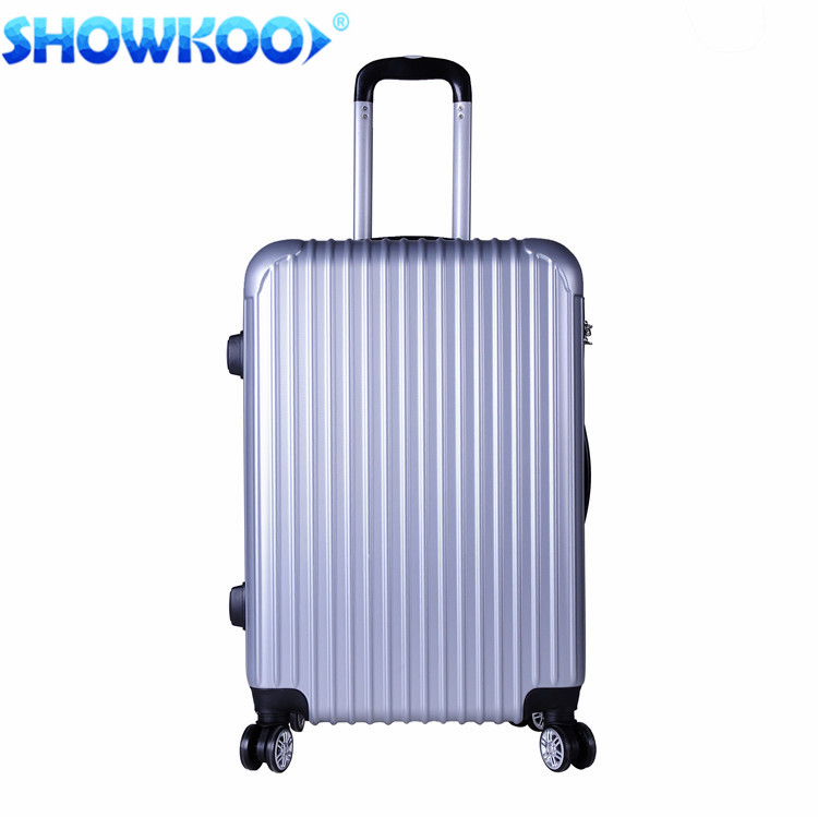 New design Best Hard Trolley Suitcase 2017 best luggage top ten Classic Silver ABS Luggage