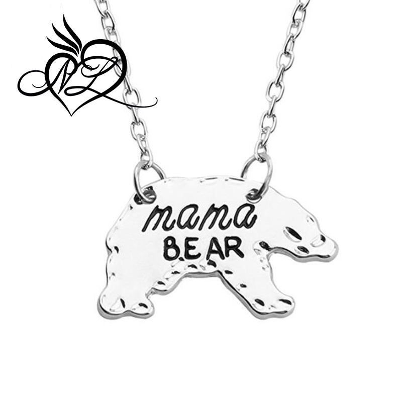 Mama Bear Necklace Hand Stamped Mama Jewelry Gift for Family and Friend