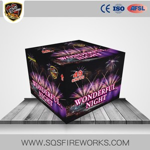Promotional Price 49 Shots Pyro Wonderful Night Salute Display Cake Fireworks for Sale