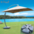 Chinese square patio umbrella canopy parasol beach