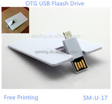 2015 New Blank Credit Bank Card USB 2.0 Memory Stick Flash Pendrive/Promotional Gift DIY OEM Custom Logo Printing