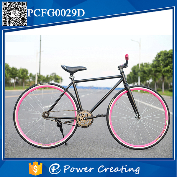 "Newest single speed 26"" carbon steel comfortable fixed gear bikes"