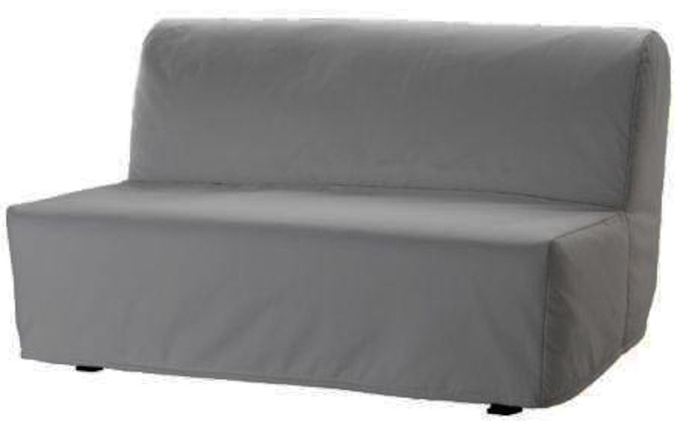 The Lycksele Lovas Sofa Bed Cover Replacement is Custom Made for Ikea Lycksele Sleeper Or Futon Slipcover. No Filling, Nor Wadding, Easy to Wash (Light Gray)