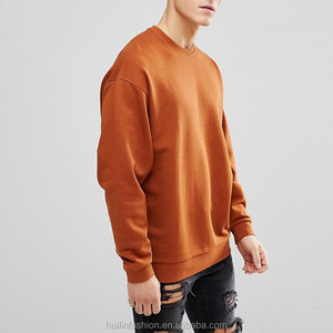 jerseys sweatshirts dropped shoulders 100% cotton sweatshirt hoodie in dark orange