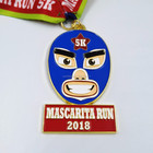super quality soft enamel medallion with small MOQ / custom running medals