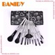 Smudge Makeup Brush Set 12 pcs Professtional Makeup Cosmetic Brush Set, Makeup Brush Beauty Salon Equipment With PU leather bag