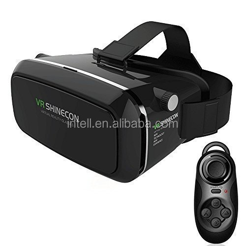 Best price vr shinecon 3d glasses with headband for smartphones , skype:linda.cuicui