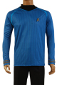 HIGH QUALITY Star Trek Into Darkness Captain Kirk Shirt Uniform Cosplay Costume Blue Version Size XS