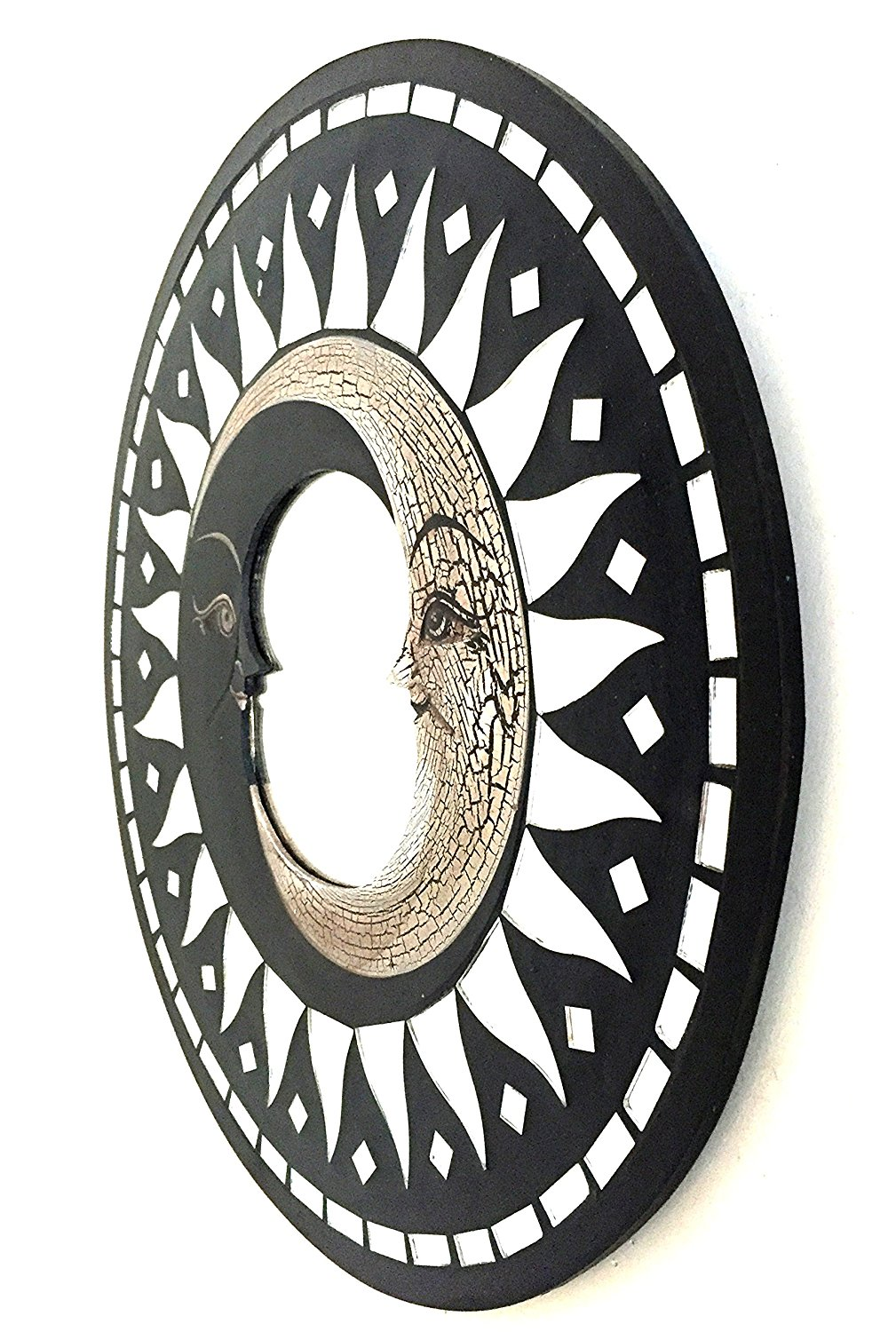 Buy OMA Moon Wall Mirror With Mosaic Glass Sun Moon ...
