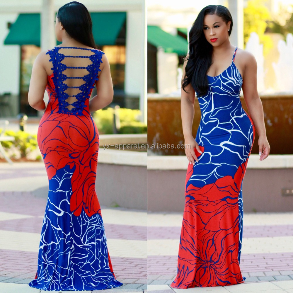 02283a390668 Summer party long hot sexy girl floral print sexy night dress maxi dresses