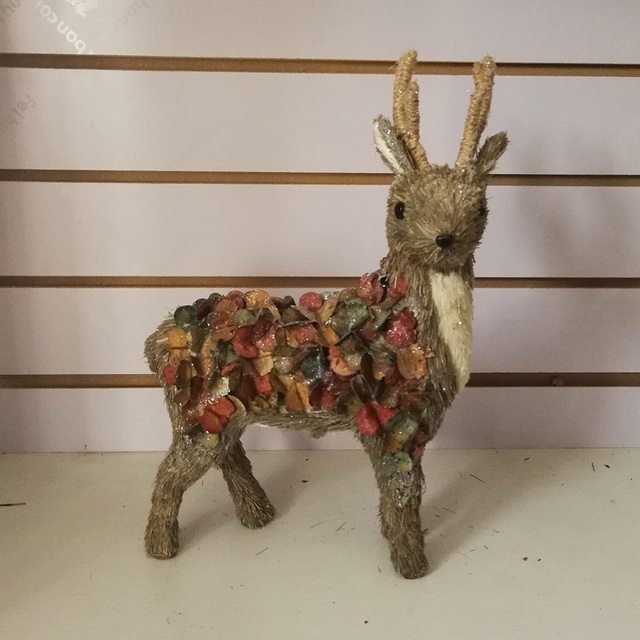 creative design straw lowes outdoor christmas decorations deer for garden - Lowes Christmas Decorations Deer