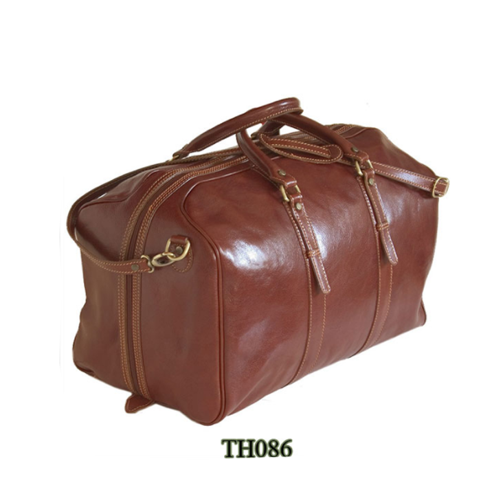 Italy Leather Handbags Travel Bag Men