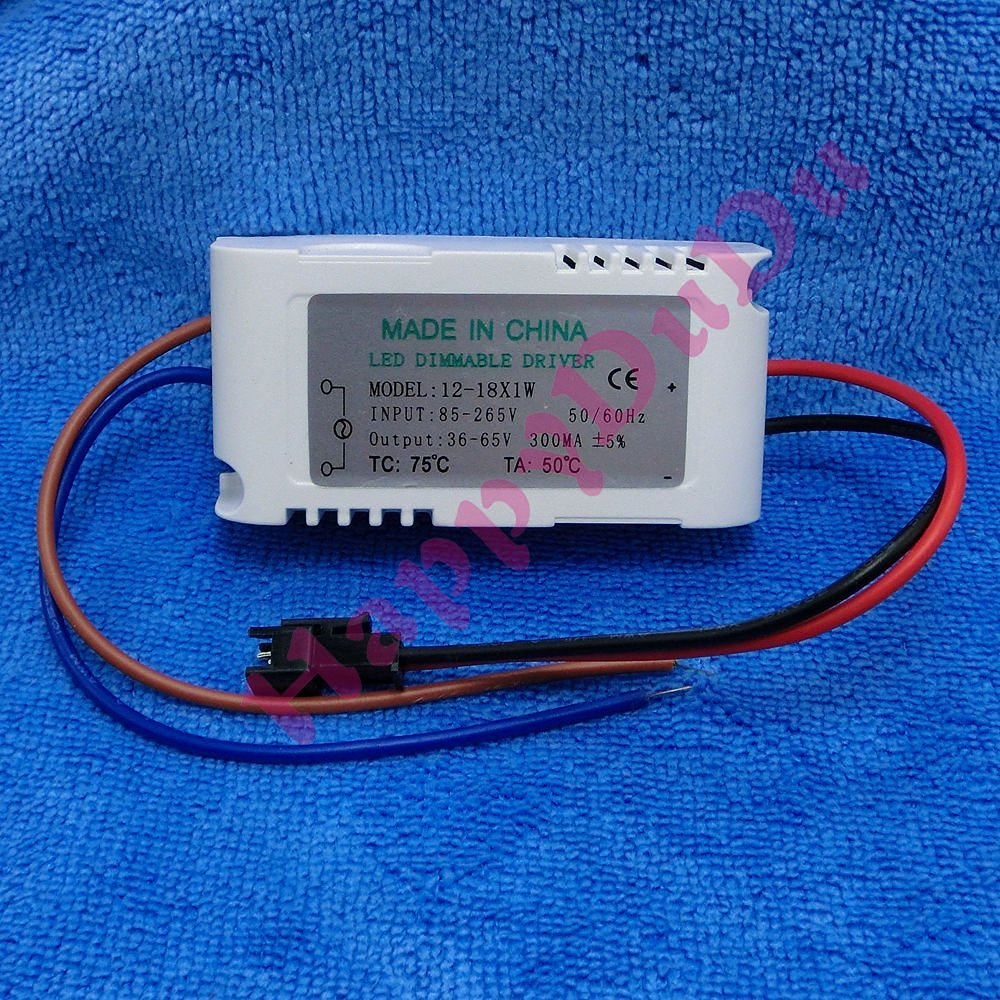 AC 90-260V Dimming Power Supply Driver 12-18x1W for LED Light Lamp 12W 15W 18W ~ITEM #GH8 3H-J3/G8320581