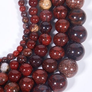 Natural Smooth Red Flower Jasper Gemstone Loose Beads For Jewelry Making DIY Handmade Crafts 4mm 6mm 8mm 10mm 12mm