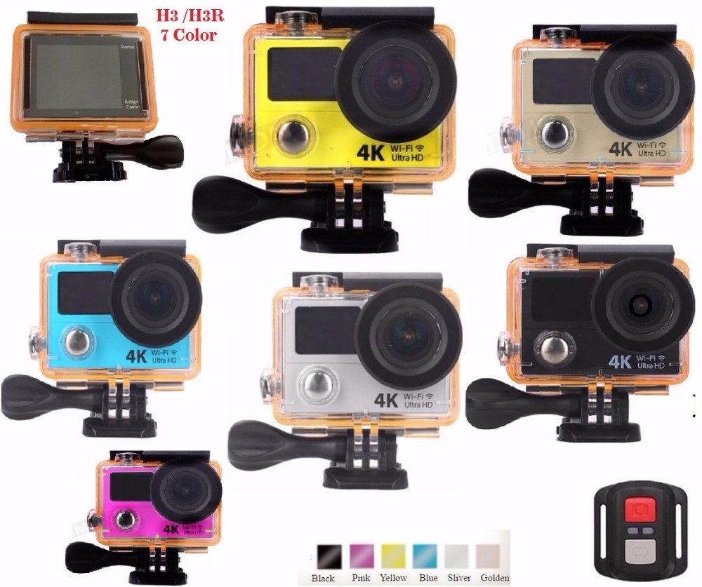 H3 high quality waterproof wifi action camera with dual screen