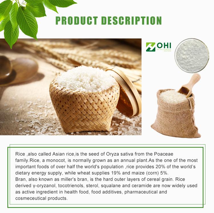 Specification 93%-98% Wholesale Organic Ferulic Acid Rice Bran Extract