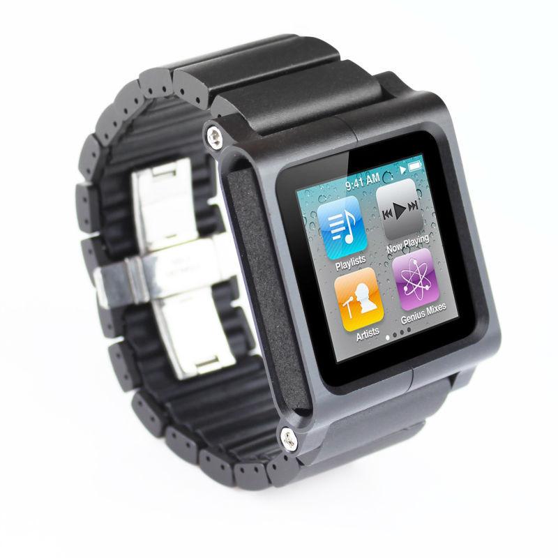Алюминиевый Multi-Touch наручные часы комплект ремешок браслет для iPod Nano 6 6-й