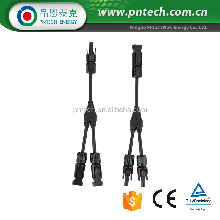 Ce Tuv Ip67 Pc Y Branch 2to1 Mc4 Solar Cable Connector 60374024535 on mc4 connector adapter port