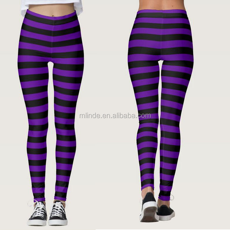 PINK BLACK STRIPED WITCH ADULT WOMENS STOCKINGS LEGGINGS