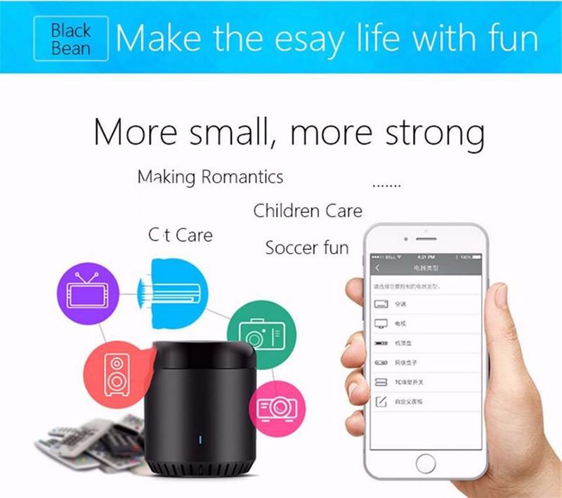 Broadlink RM mini3 - WiFi + IR Universal Remote Controller - Black Bean