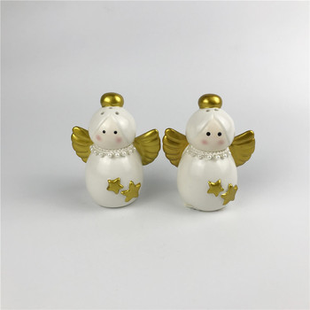 angel shape ceramic Salt and Pepper Shakers herbs & spice tools spice jar