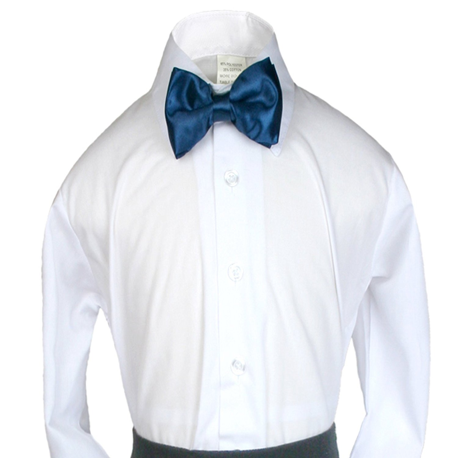 fd64443f6265 Get Quotations · Unotux Boys Suits Tuxedos Formal Wedding Teal Satin Bow Tie  from Baby to Teens