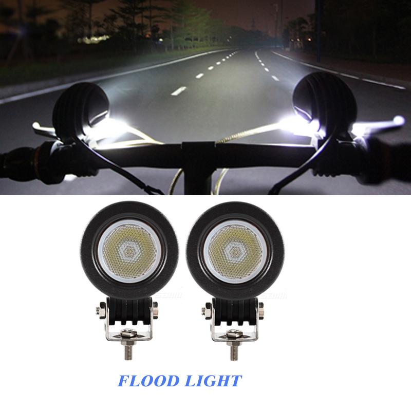 2 шт. 10 Вт 2 дюймов кри из светодиодов свет наводнение 800LM для бездорожья 4 x 4, Мотоцикл лодка ATV 12V24V IP68