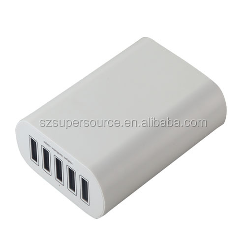 50W Total 10A 5 port usb charger desktop usb charger for Samsung Galaxy Note 5 Note 4 Note 3