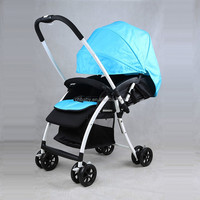 CH baby brand aluminum alloy light weight frame baby stroller/one hand folding baby stroller with reversible handle good price