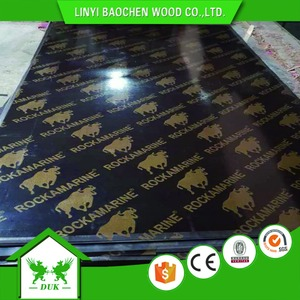 One Hot Press Film Plywood Poplar Core, 9mm Black Film Faced Plywood, Concrete Formwork Plywood 15mm